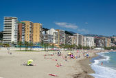 Beach of Malaga and seaside. — Stock Photo