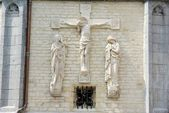 Christ, wall of Basilica St Martin, Halle, Belgium — Stock Photo