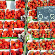 Stock Photo: Belgistrawberries in market