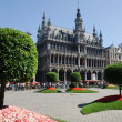 Flower show at the Grand Place in Brussels — Stock Photo