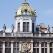 Brussels, Grand-place, detail of the roofs — Stock Photo