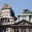 Stock Photo: Brussels Grand-place detail of roofs