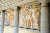Murals in mosaics, Jubilee Park, Brussels — Stock Photo