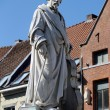 Stock Photo: Statue of AdriaFrans Servais (1807-1866), Halle, Belgium