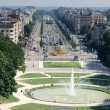 "Stock Photo: Aerial view of ""Avenue de Tervueren"" and fountain of Jubileum Park,"