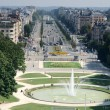 "Aerial view of the ""Avenue de Tervueren"" and the fountain of the Jubileum Park, — Stock Photo"