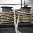 Foto Stock: Mooring ropes
