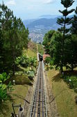 Downhill track at Penang Hill, Malaysia. — Stock Photo