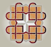 Mosaico cruz — Vector de stock