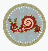 红蜗牛 — 图库矢量图片