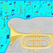Jazz  trumpet — Stock Vector