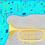 Постер, плакат: Jazz trumpet
