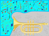 Jazz trumpet — Stock Vector