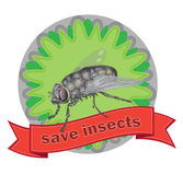 Fly label — Stock Vector