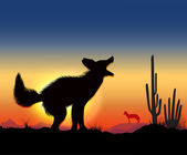 Dance jackal — Stock Vector