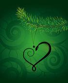 The year of snake. Stroke Snake on green background. — Stock Vector