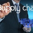 Supply chain management concept by flow from supplier to custome - Stock Photo