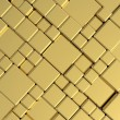 Gold metal plate background or texture - Stock Photo