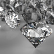 Diamonds on black surface — Lizenzfreies Foto