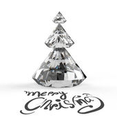 Christmas card with Diamonds Christmas tree — Stock Photo