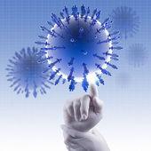 Medicinsk nätverk koncept — Stockfoto