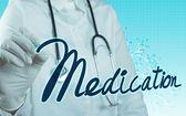 Ruku s konceptem lékařský stetoskop — Stock fotografie