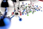 Molecule 3d mediacal — Stock Photo