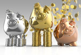 Piggy bank as concept — Stock Photo
