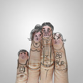 Happy finger family — Stock Photo