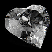 Diamond heart shape — Stock Photo