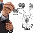 Hand drawing the big idea diagram — Stock Photo #18386675