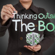 Thinking outside the box as concept — Stock Photo #18392725