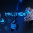 Businessman hand pointing to investment concept — Stock Photo #21817453