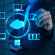 Businessman working with a Cloud Computing diagram on the new — Stock Photo #21827101