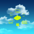 A Cloud Computing diagram - Foto de Stock