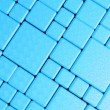Steel blue cube mesh metal plate background — Stock fotografie