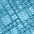 Royalty-Free Stock Photo: Blue Steel mesh metal plate background