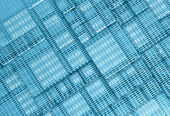 Blue Steel mesh metal plate background — Stock Photo
