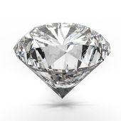 Diamantes aislados en blanco — Foto de Stock