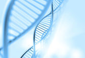 A dna in medical background — Stock Photo