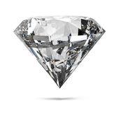 Diamonds isolated on white — Stock Photo