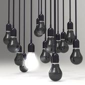 Creative idea and leadership concept light bulb — Stock Photo