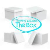 Thinking outside the box — Stock Photo