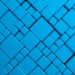 Steel blue cube mesh metal plate background - Stock Photo