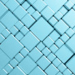 Steel blue cube mesh metal plate background — Stock Photo