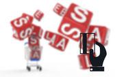 オンライン ショッピングの概念としてのショッピング カート販売 — ストック写真