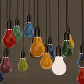 Kreative idee und führung konzept-glühbirne — Stockfoto