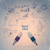 Mejor concepto idea creativa — Foto de Stock