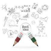 Best idea concept creative — Stock Photo