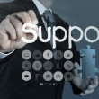 Businessman writing support concept — Stock Photo